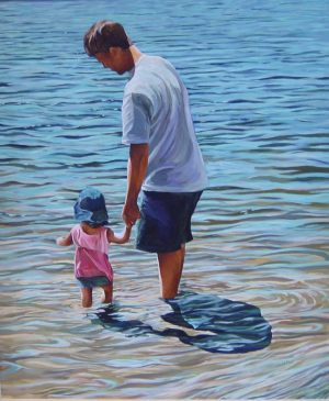 "Father and Daughter – 30"" X 36""<span class=""sold"">•</span>"