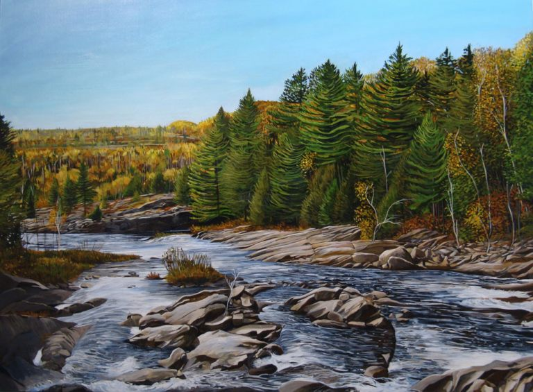 "Above the Falls – 36"" X 48"" <span class=""sold"">•</span>"