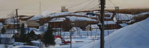 "Hockey Night In Copper Cliff – 12""x36"" <span class=""sold"">•</span>"