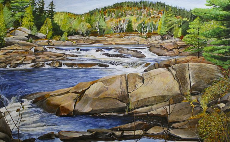 "Fall at the Falls – 30"" X 48"" <span class=""sold"">•</span>"