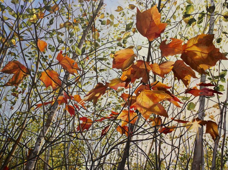 "October Maple Parade – 36"" X 48"" <span class=""sold"">•</span>"