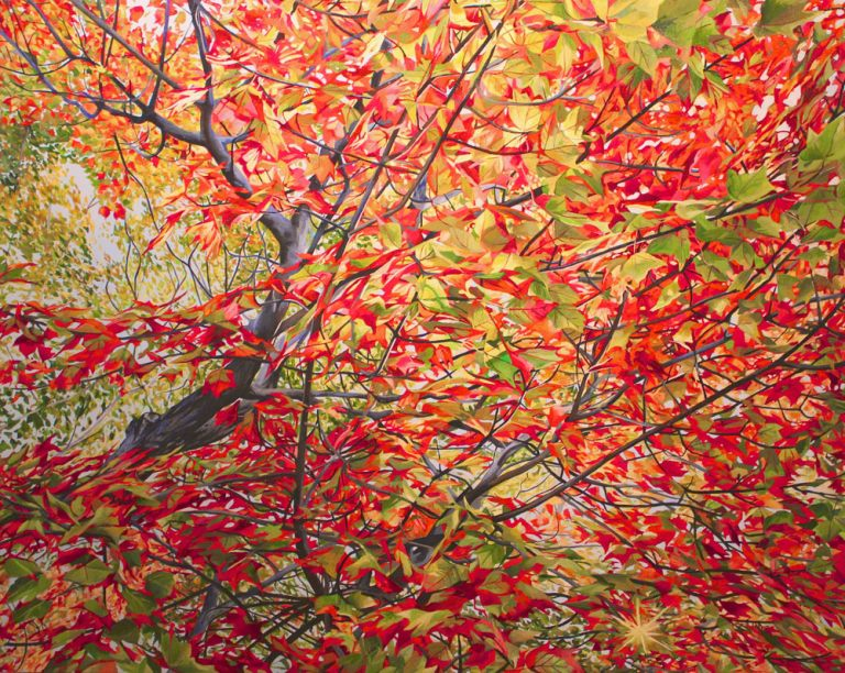 "October Scarlet Rush – 48""x60""<span class=""sold"">•</span>"