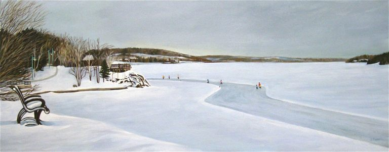 "Ramsey's Winter Run – 16"" X 40"" •"