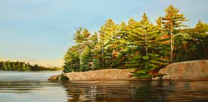 "Sunrise-Bay of Pines 24""x48"""