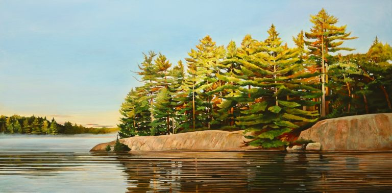 """Sunrise-Bay of Pines 24""""x48""""<span class=""""sold"""">•</span>"""