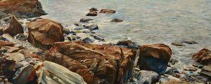 "Rock Swept Shore 24""x60""<span class=""sold"">•</span>"