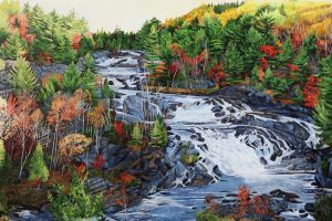 "Onaping Falls 32""x48""<span class=""sold"">•</span>"