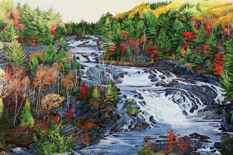 """Onaping Falls 32""""x48""""<span class=""""sold"""">•</span>"""