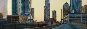 "Sunrise on the Gardiner 24""x72""<span class=""sold"">•</span>"