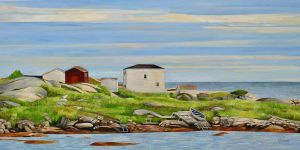 "Newfoundland-Along the Coast 15""x30""<span class=""sold"">•</span>"