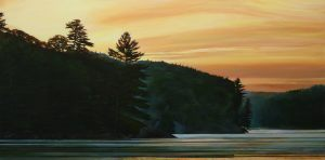"Cottage Country Sunrise 24""x48""<span class=""sold"">•</span>"
