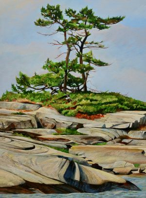 "Dancing Pines-Georgian Bay 18""x24""<span class=""sold"">•</span>"