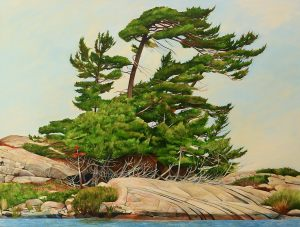 "Against the Wind-Georgian Bay 36""x48""<span class=""sold"">•</span>"