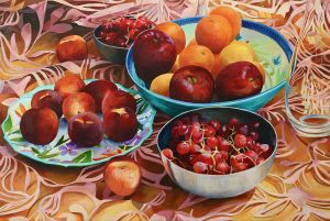 "Bold Fruit Series: Dopo Cena 24""x36""<span class=""sold"">•</span>"