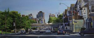"To TO series: Heading Downtown – 16""x40"" <span class=""sold"">•</span>"