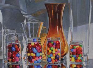 "The Gumball Dilemma: Half Full – 18""x24""<span class=""sold"">•</span>"