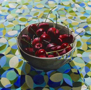 "Bold Fruit Series: Cherries Retro – 20""x20"""
