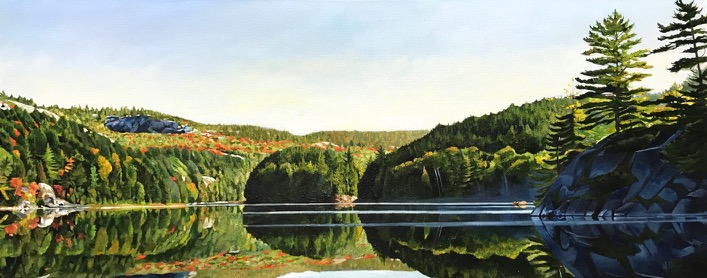 "La Cloche Sunrise 16""x40""<span class=""sold"">•</span>"