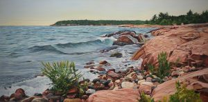 "Evening Symphony-Georgian Bay 24""x48""<span class=""sold"">•</span>"