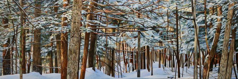 """Through Winter's Woods 24""""x72""""<span class=""""sold"""">•</span>"""