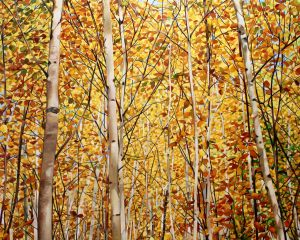 "Golden Birch Sway 48""x60""<span class=""sold"">•</span>"