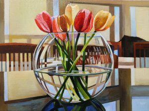 "Tulips-Morning Glow 12""x16""<span class=""sold"">•</span>"