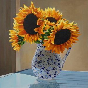 "Sunflowers 24""x24""<span class=""sold"">•</span>"