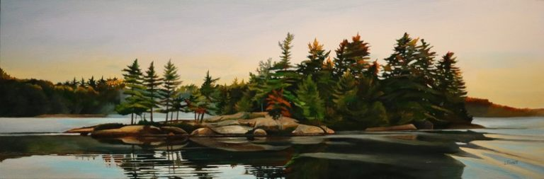 """First Wake 12""""x36""""<span class=""""sold"""">•</span>"""