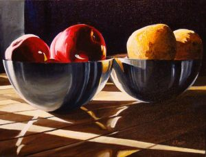 "Apples to Oranges – 12"" X 16"" <span class=""sold"">•</span>"