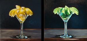 "Martini Lemon, Martini Lime – 12"" X 12"" each <span class=""sold"">•</span>"