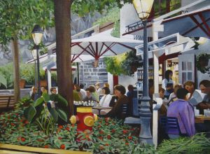 "Cafe by Dusk 12x16 <span class=""sold"">•</span>"